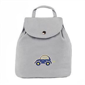 """Sac à dos bébé gris """"La voiture d'Arthur"""""""