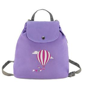 """Sac à dos bébé violet """"La montgolfière de Claire"""""""